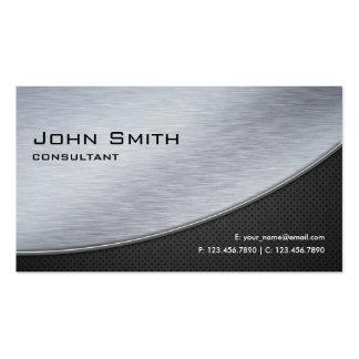 Ordenador moderno elegante profesional de la plata plantilla de tarjeta de negocio