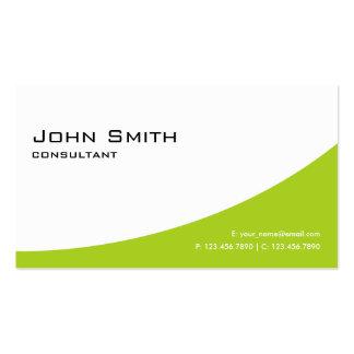 Ordenador moderno elegante verde llano profesional tarjetas personales