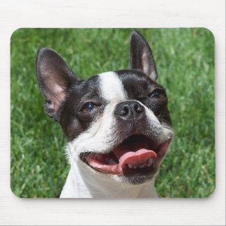 Ordenador Mousepad del perro de perrito de Boston  Alfombrillas De Raton