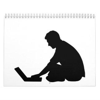 Ordenador portátil calendario