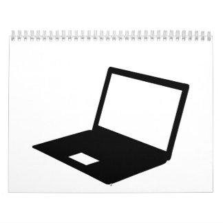 Ordenador portátil calendario de pared