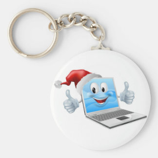 Ordenador portátil de las felices Navidad Llaveros Personalizados
