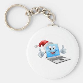 Ordenador portátil de las felices Navidad Llaveros