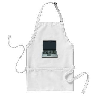 ordenador portátil de las multimedias delantal