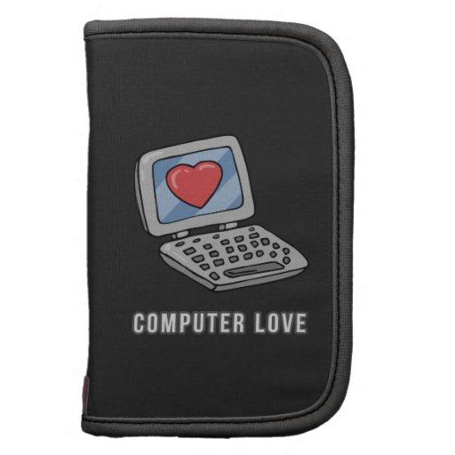 Ordenador portátil del amor del ordenador con el c organizadores
