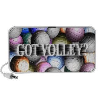 Ordenador portátil del collage del voleibol altavoz de viaje