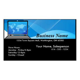 Ordenador portátil del mundo/tarjeta de la empresa tarjetas de visita