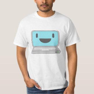 Ordenador portátil feliz del ordenador playera