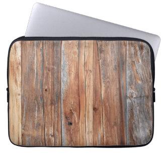 Ordenador portátil funda madera retro manga computadora