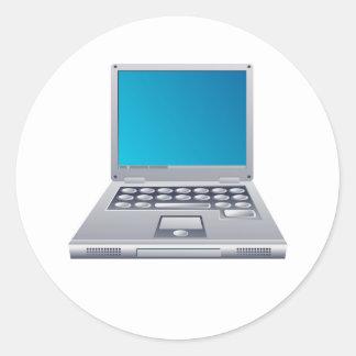 Ordenador portátil pegatina redonda