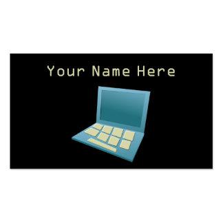 Ordenador portátil poco firme plantilla de tarjeta personal