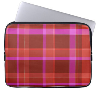 ordenador portátil rosado de la manga de la tela funda ordendadores