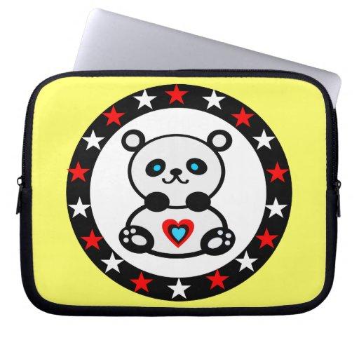 """"""" ordenador portátil Sleeve1¦ de la panda de los r Manga Portátil"""