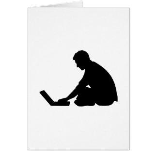 Ordenador portátil tarjeta de felicitación