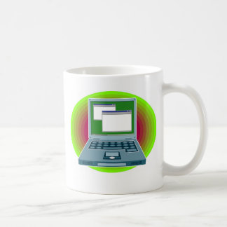 Ordenador portátil taza básica blanca