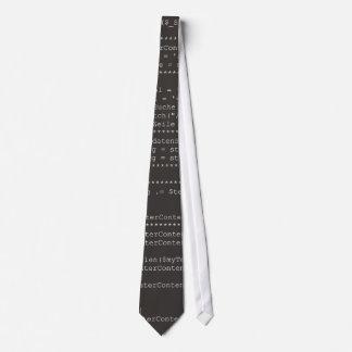 Ordenador programming source code corbata personalizada