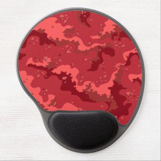 Ordenador rojo Mousepad del gel de Camo del desier Alfombrilla De Raton Con Gel