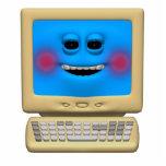 ordenador sonriente de ruborización tonto escultura fotográfica