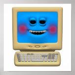 ordenador sonriente de ruborización tonto poster