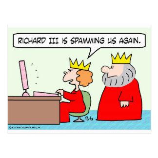 ordenador spamming el rey de la reina de Richard i Postales