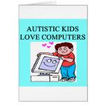 ordenadores autísticos del amor de los niños del a tarjetón