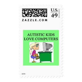 ordenadores autísticos del amor de los niños sello
