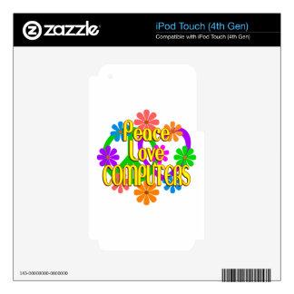 Ordenadores del amor de la paz iPod touch 4G skin