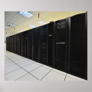 ordenadores del centro de datos póster