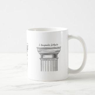 Órdenes arquitectónicas griegas taza de café