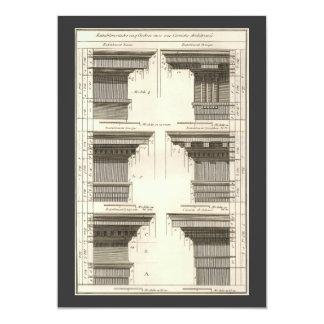"""Órdenes de la arquitectura, Entablatures del Invitación 5"""" X 7"""""""