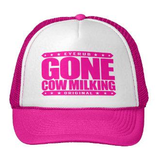 ORDEÑO de VACA IDO - cultivo de la leche cruda y Gorra