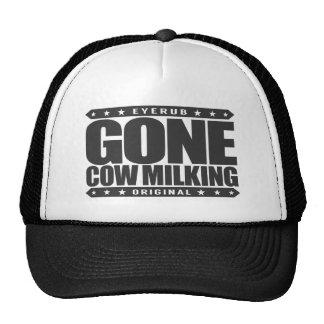 ORDEÑO de VACA IDO - cultivo de la leche cruda y Gorras De Camionero