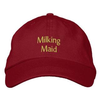 Ordeño del casquillo/del gorra de la criada gorra de beisbol bordada