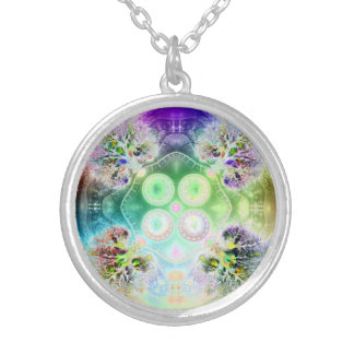 Order at the Root of All Chaos V2 (Medium Round) Silver Plated Necklace