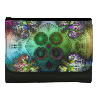 Order at the Root of All Chaos V4 Medium Leather Wallet For Women