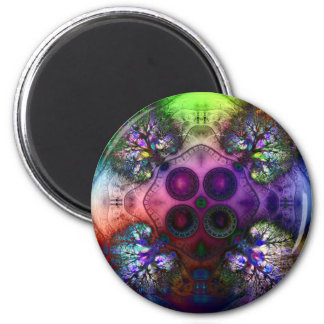 Order at the Root of All Chaos V 1  Magnet (Round)
