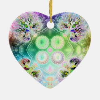 Order at the Root of All Chaos V 2  (Heart) Ceramic Ornament