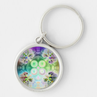 Order at the Root of All Chaos V 2 Silver-Colored Round Keychain
