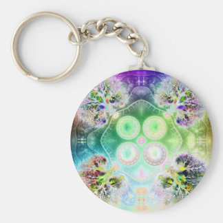 Order at the Root of All Chaos V 2 Basic Round Button Keychain