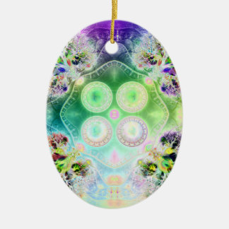 Order at the Root of All Chaos V 2 (Oval) Ceramic Oval Ornament