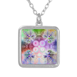 Order at the Root of All Chaos V 3 Square Pendant Necklace