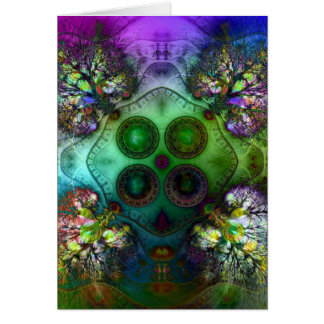 Order at the Root of All Chaos V 4 Greeting Card