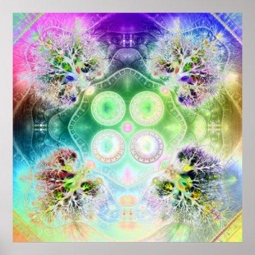 Order at the Root of All Chaos Var 2  Art Print