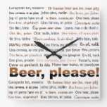 Order Beer in 36 Languages Clock