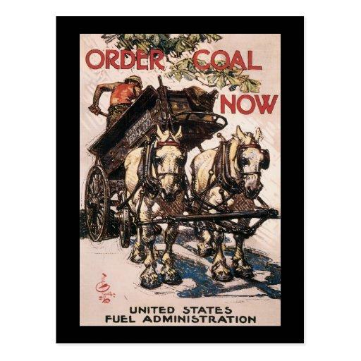 Order Coal Now World War II Post Card