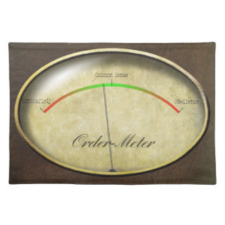 Order-Meter Cloth Placemat