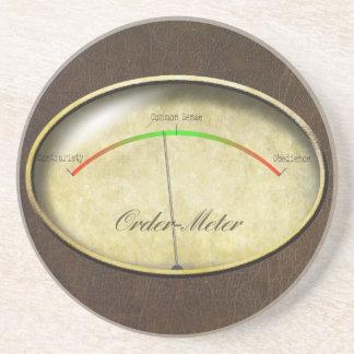 Order-Meter Drink Coaster