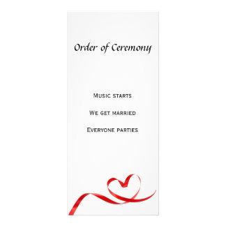 "Order of Ceremony 4"" x 9"" Rackcard Rack Card"