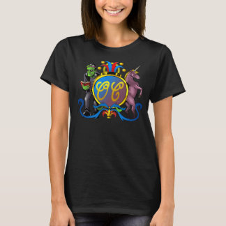 Order of Cockscomb Opal Coat of Arms Black Tee