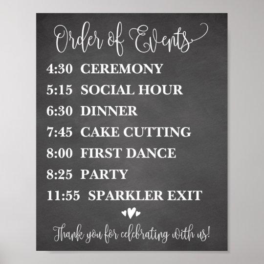 Order Of Events Wedding.Order Of Events Wedding Schedule Sign